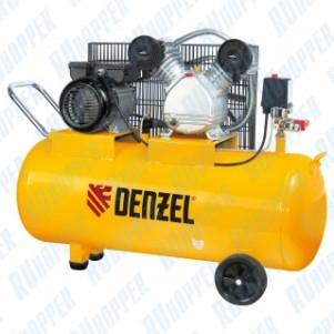 Компрессор пневматический, 2,2 кВт, 370 л/мин, 100 л Denzel