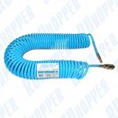 Шланг RUhopper спиральный 6x8мм, 15м, морозоустойчивый PU