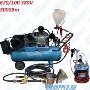 """Штукатурная установка (мини-станция) """"Ruhopper ЕК-RH Maxi 670/100 380V 3 кВт - для работ под ключ"""