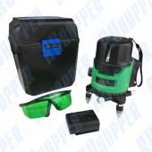 Лазерный уровень ZITREK самовыравнивающийся (2 линии, зеленый луч, литиевый аккумулятор, кейс)